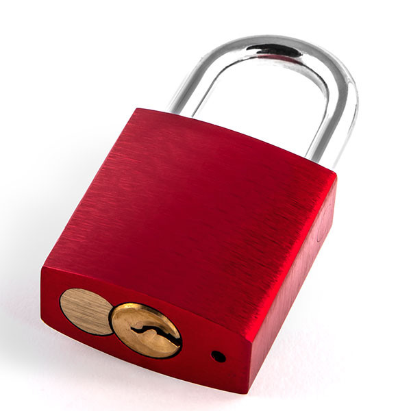 Love lock red