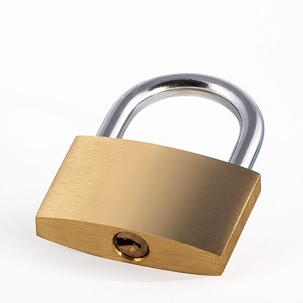Wide love lock gold