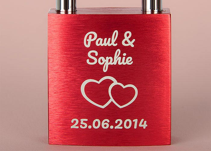 photo: Superior laser engraving on Lovelock Designer